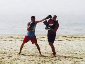 Beach Boxing! (Not available inside the gym.)